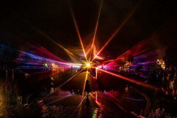 Botanische Nacht 2019 wundervolle Lasershow