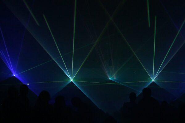 Lasershow Yachthafen