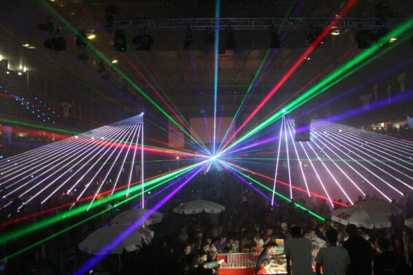 Firmenevent Lasershow