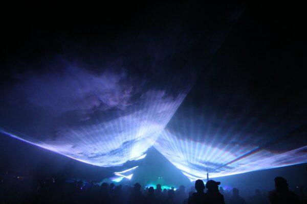 Lasershow Kreiserntefest Schönow