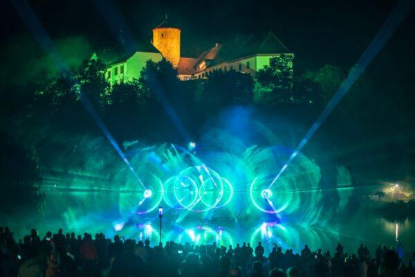 Lasershow Landesgartenschau