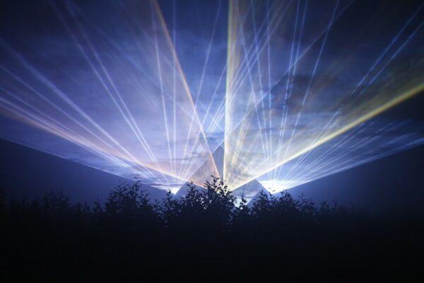 Beam oder Grafik Lasershow aus Berlin