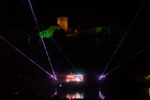 Hydroschild Laser Projektionen